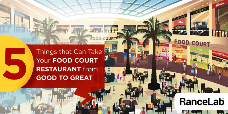 Way Of Serving Customers At The Food Court